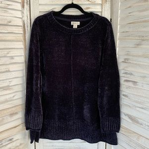NWT Soft Chenille Pullover Sweater Midnight